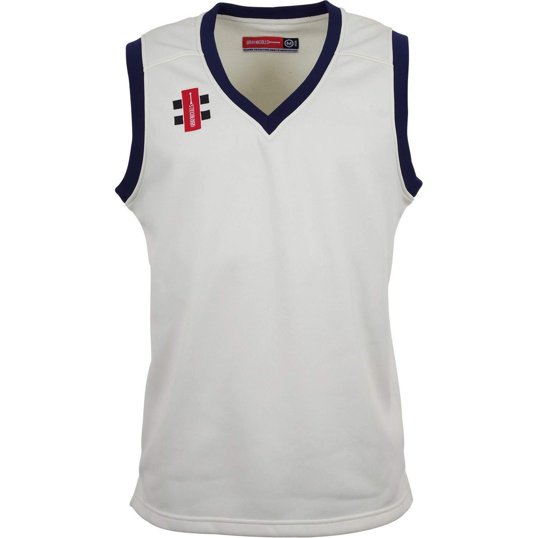 Gray Nicolls Childrens/Kids Velocity Sleeveless Slipover Cricket Vest (11/12 Years) (Ivory/Navy)