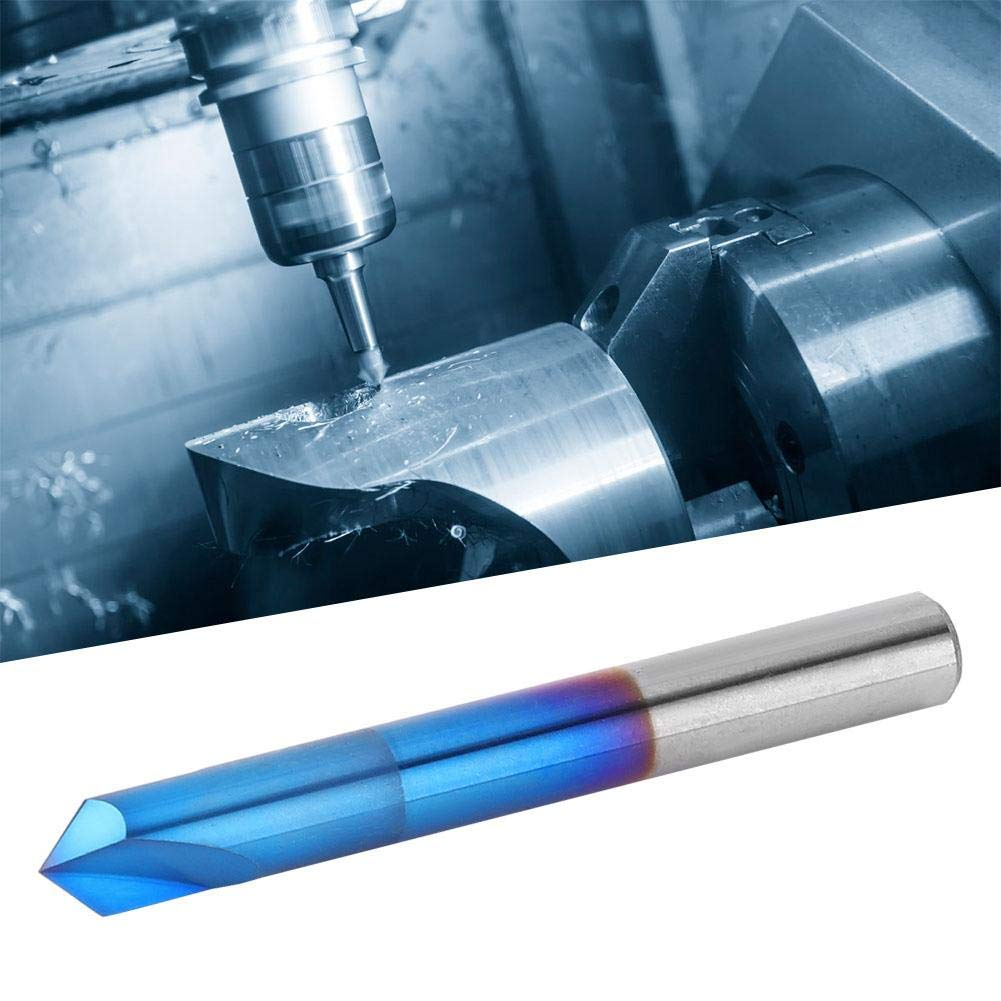 CNC Engraving Bits 6 * 50mm Shank Dia X Length High-precision Chamfer End Mill for Chamfer debur Caving V Groove and Sign 2 Flute 90 Degree Tungsten Carbide V Router Bits