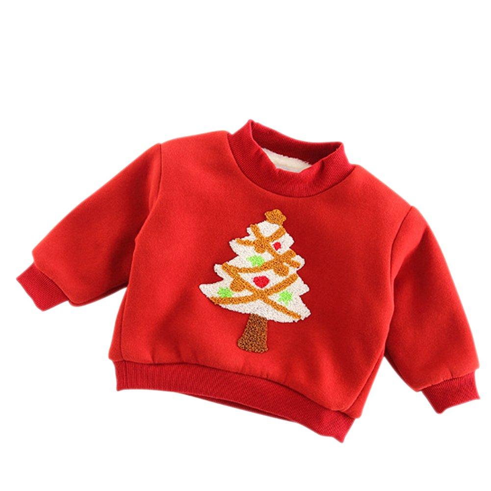 Baywell Sweat-Shirt Bébé de Noël Pull de Noël, Garçons Filles de Noël T-Shirts à Manches Longues Garçons Filles de Noël T-Shirts à Manches Longues