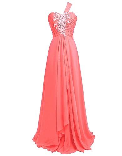 Fashion Plaza One-shoulder Formal Evening Party Dress D0099