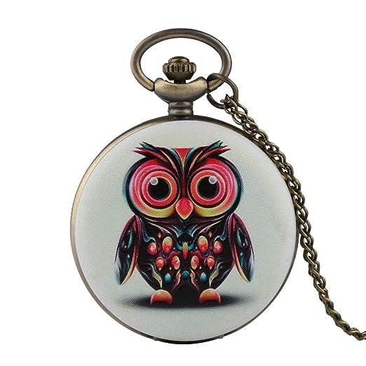 Reloj de Bolsillo para Hombre, diseño de búho, Reloj de Bolsillo para niño, Reloj de Bolsillo Digital árabe para Adolescentes: Amazon.es: Relojes