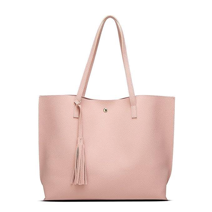 Amazon.com: Ansan diseño simple pu piel Womens bolsas de ...