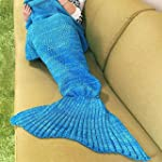 Es Unico� Knitted Mermaid Tail Blanke...