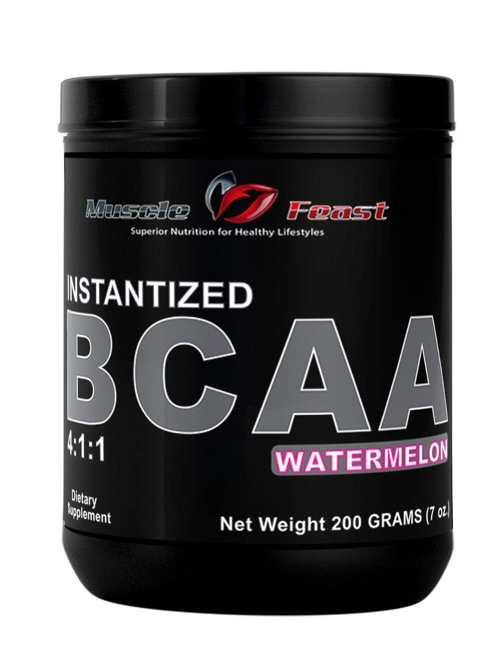 Muscle Feast Instantized Branch Chain Amino Acids (BCAA) Powder (Watermelon, 200 grams) by Muscle Feast   B00RLV4WG4