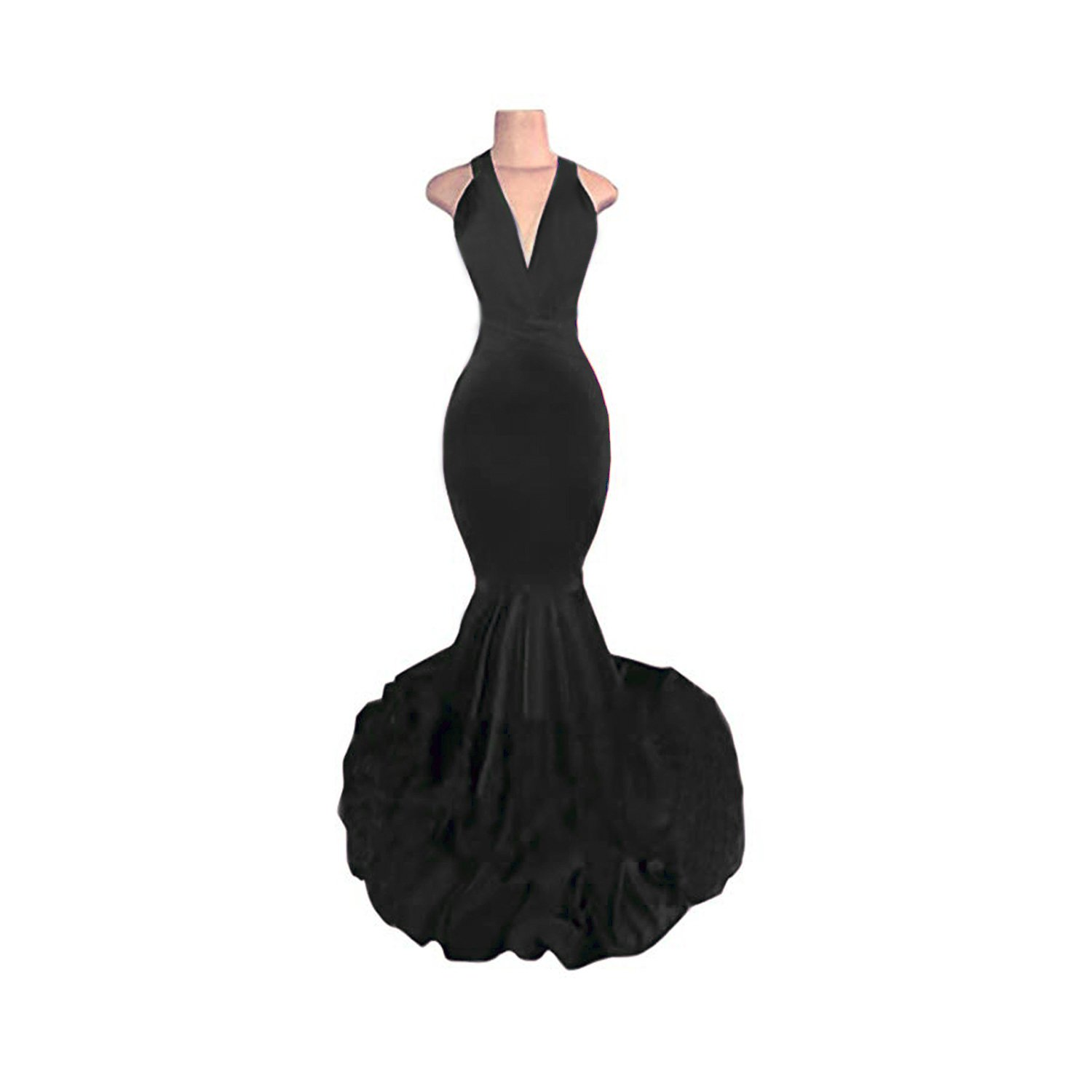 3bab564daf4 KapokBanyan Women s Sexy Backless Mermaid Prom Dresses 2018 Long Evening  Gowns Summer Dress at Amazon Women s Clothing store