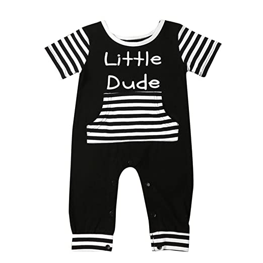 For 6-24 Months Baby,DIGOOD Newborn Infant Baby Boys Girls Letter Striped Romper