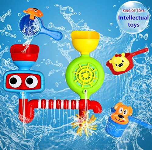 king of toys Bath Toy Waterfall Water Station with Two Stackable Cups (Water Sparing WaterFall)