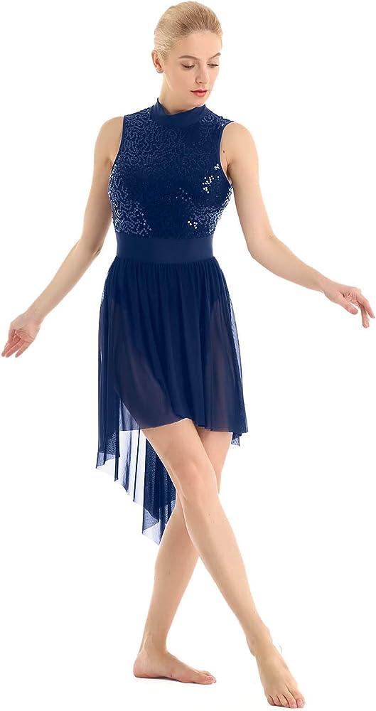 YiZYiF Vestido de Baile Latino para Mujer Chica Vestido Danza ...