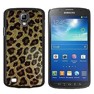 BearCase / Cubierta de protección Caso duro de la contraportada de Shell Plástico /// Samsung Galaxy S4 Active i9295 /// bling del oro del patrón del leopardo de la piel