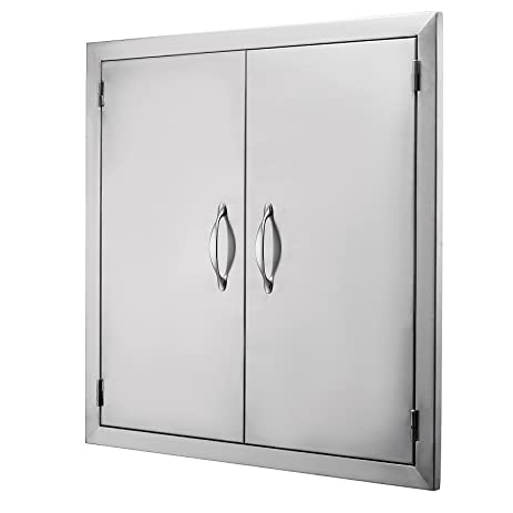 Foodkingdom BBQ Access Door 24\u0026quot;Wx24\u0026quot;H Double BBQ Island Door 304 Stainless Doors
