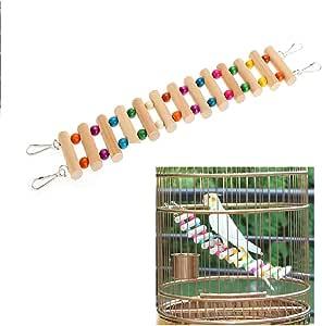 DAYNECETY Escalera de Jaula de Pájaros Escalera Juguete de Escalada Dibujo Puente para Buda Parrot Parakeet Cockatiel Mice Hamster Guinea Perch: Amazon.es: Productos para mascotas