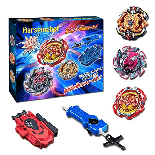 Harspincher Bay Burst Battle Avatar Attack Battle Set with B-70 Sword Launcher & B-88 Bey Launcher LR