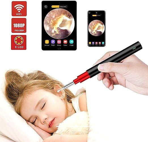 Cámara oído, 1080P FHD WiFi oído Alcance, iPhone Wireless oído ...