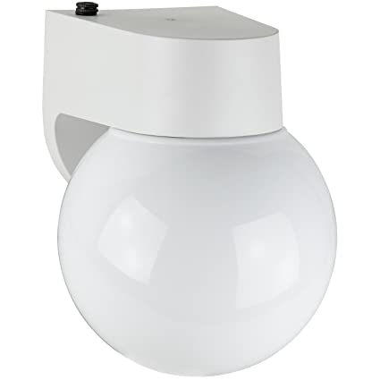 Sunlite ODF1015 7-Inch Photo Control Fluorescent Wall Mount Globe ...