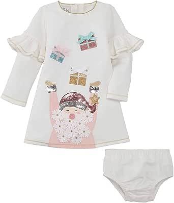 Mud Pie Baby Girls' Santa Present Dress