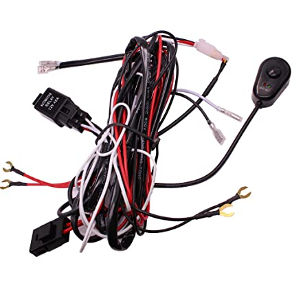Astounding Amazon Com Huiqiaods Led Light Bar Wiring Harness Off Road Power Wiring 101 Capemaxxcnl