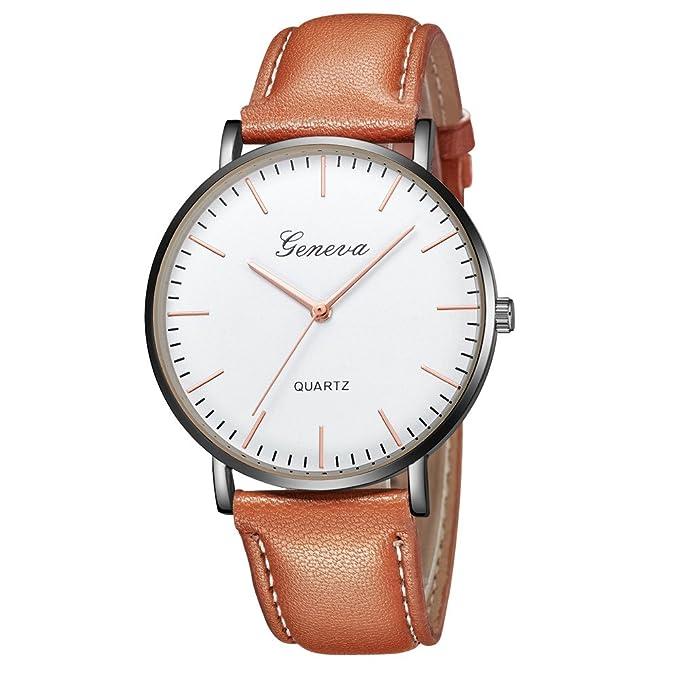 Naturazy-reloje Para Mujer Reloj Damas SeñOras Lujo Impermeable Fino Reloj De Cuero Minimalista Moda Calendario Deportivo Casuales CláSico Negocios Relojes ...
