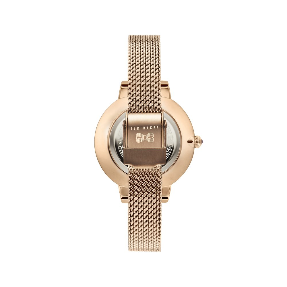 8e8abbffcee3 Ted Baker Women s Kate Rose Gold Case Floral Dial Rose Gold Mesh Bracelet  Wrist Watch (Model  TE50070005)  Amazon.ca  Watches