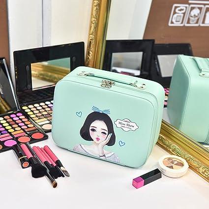 Caja cosmética bolso cosmético cosméticos aire libre viajes moda baño organizador de maquillaje maquillaje maquillaje cepillo