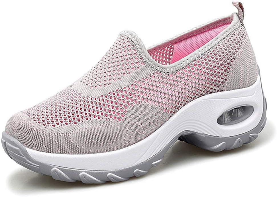 ZPWY Zapatillas Deportivas para Correr para Mujer Malla Ligera Absorbente de Aire Gimnasio Ligero Caminar Zapatillas Zapatillas Transpirables, Pink-36: Amazon.es: Hogar