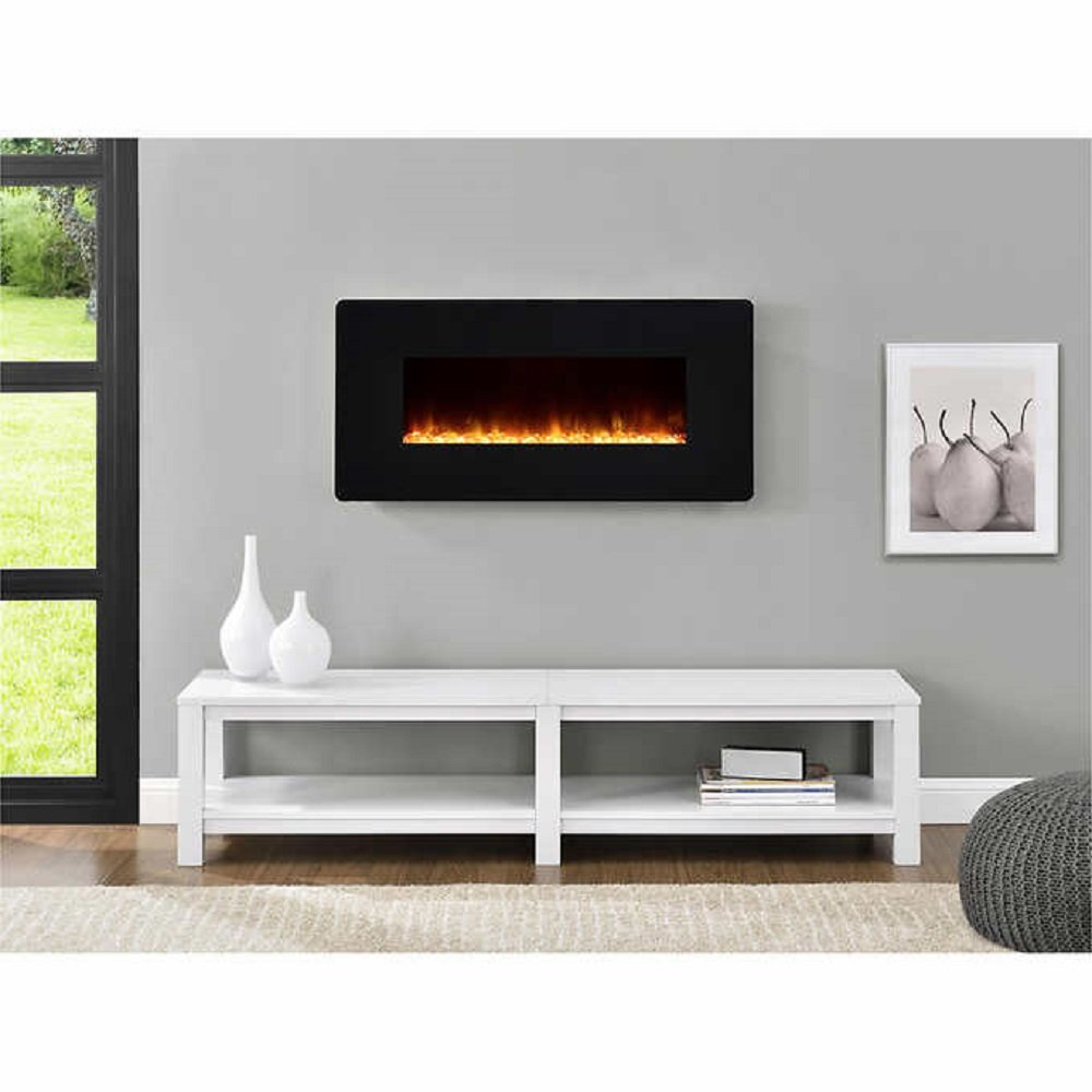 kenna 35 in wallmount electric fireplace black amazon ca home
