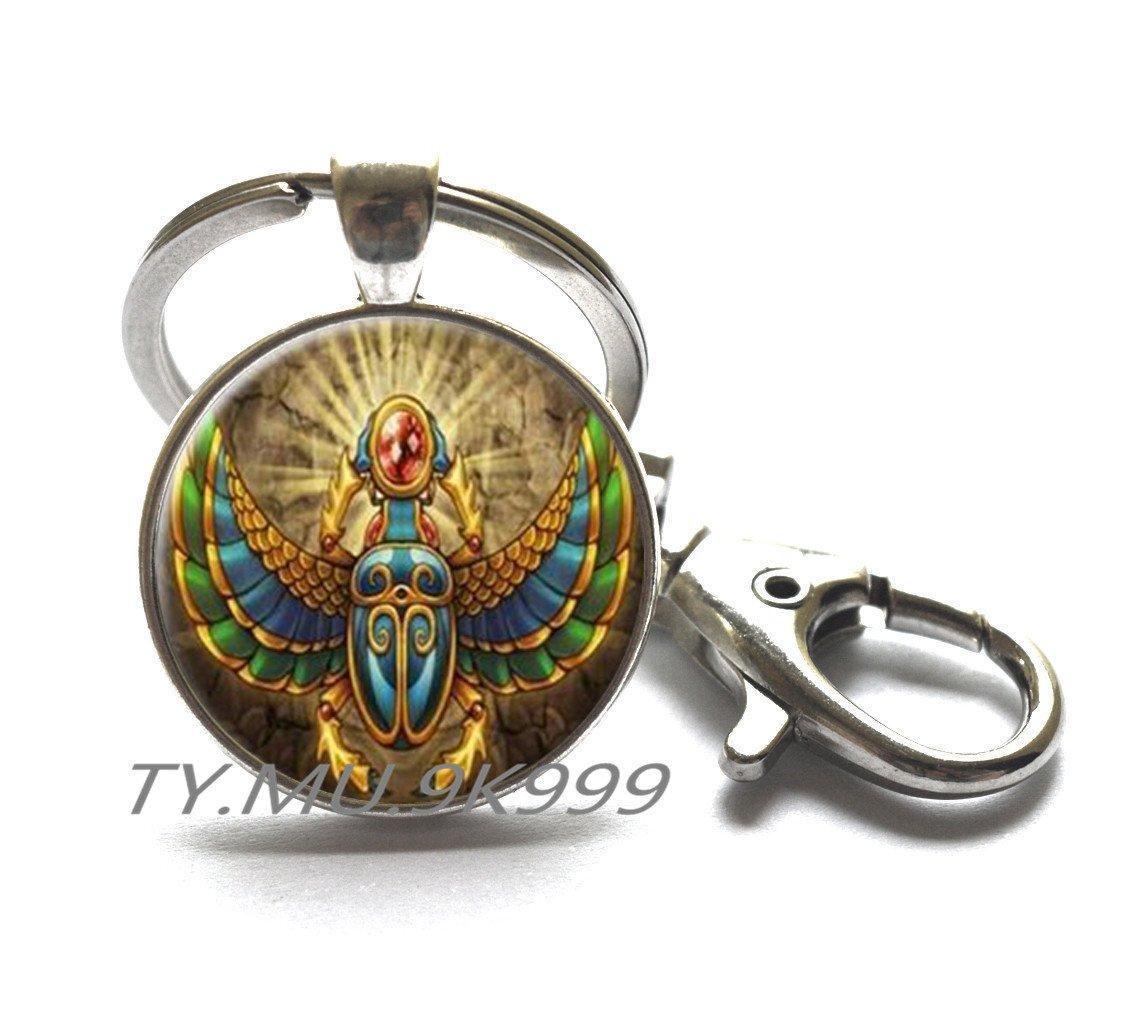 Amazon.com: Egipcio Escarabajo llavero, antiguo Egipto joyas ...