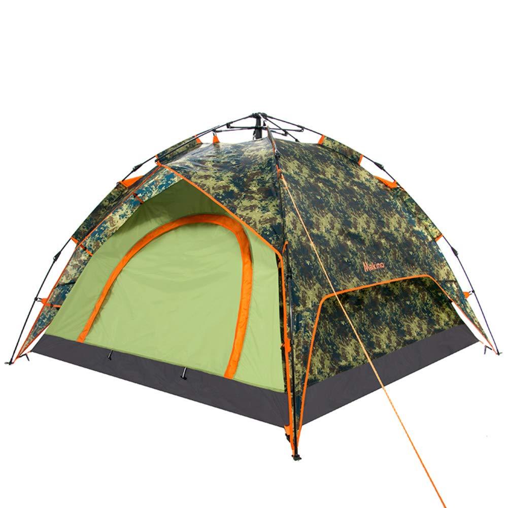 DULPLAY Outdoor Automatisches Pop-up Familienzelt, Wasserabweisend Campingzelt Double-Layer Grosser Raum Uv-Schutz Für Feld Camping