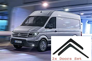 Window Visors compatible with Volkswagen Crafter 2017 /& MAN TGE 2017