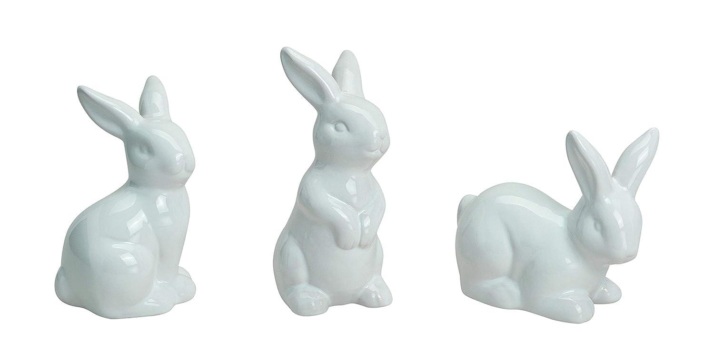 Niedlicher Hase aus weisser Keramik