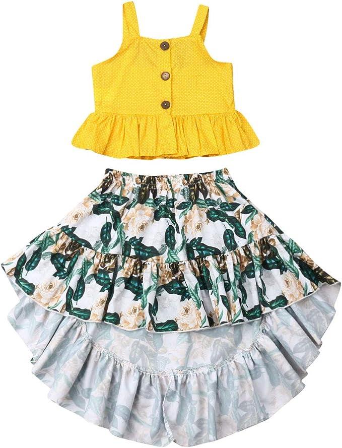 Nensiche Moda Verano Floral Bebé Niñas Camisola Tops + Tirantes ...
