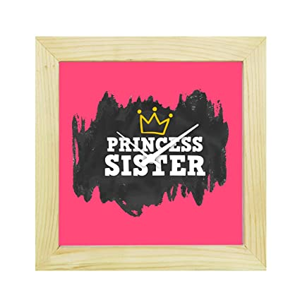 Buy YaYa CafeTM 6X6 Inches Birthday Gifts For Sister Desk Clock Princess Canvas Rakhi Online At Low Prices In India