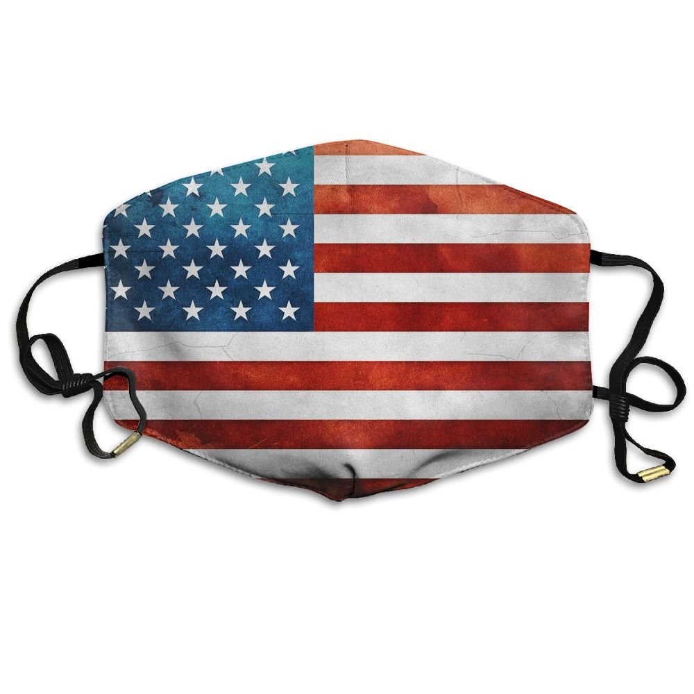 JIANGY American Flag I Love USA Reusable N95 Dust Mask Health Care Mask