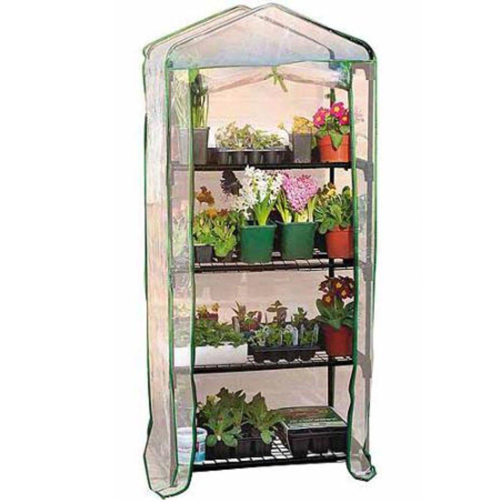 4 Tier Garden Mini Greenhouse Portable for use Indoor Outdoor Garden & PVC Cover Wheels N Bits