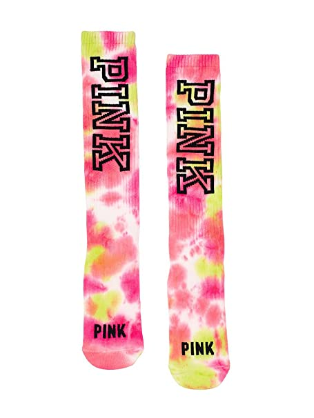 adc711aeeeb9f Victoria's Secret PINK Knee High Socks Pink Tie Dye