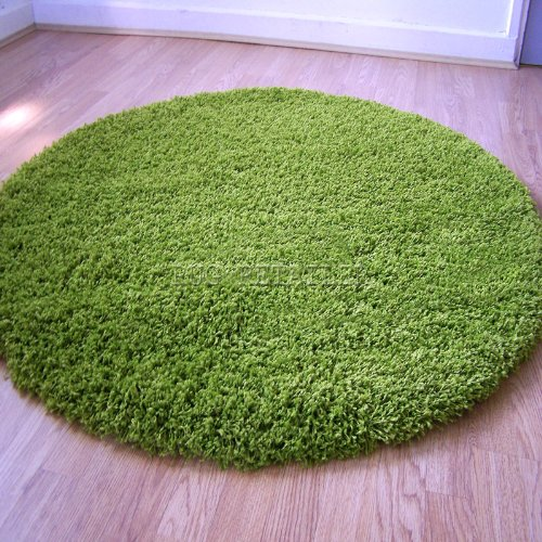 Green Circular Rug