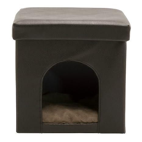 Awe Inspiring Amazon Com Offex Collapsible Pet Bed Ottoman Brown Pet Inzonedesignstudio Interior Chair Design Inzonedesignstudiocom