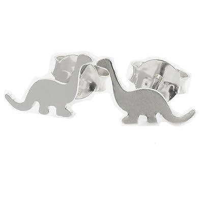 2a71ded4c Touch Jewellery 925 Sterling Silver Dinosaur Stud Earrings: Amazon.co.uk:  Jewellery