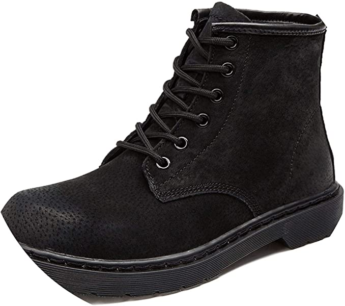 Mens Autumn/Winter Martin Boots Genuine Cow Leather High Top Ankle Boots Cotton-Padded
