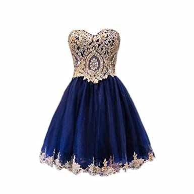 Weierxi Women S Lace A Line Navy Blue Homecoming Dresses Junior Prom