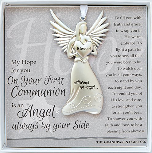 The Grandparent Gift Co. Boxed Angel with Sentiment: First Communion - Gift 1st Communion