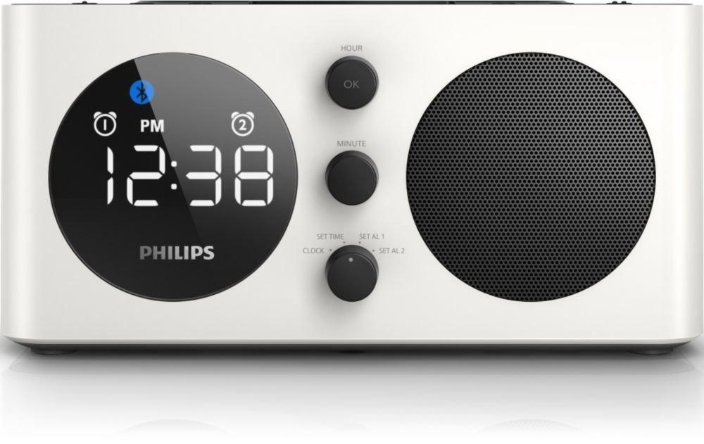 Philips Alarm Clock AJT600 Bluetooth Speaker Charge Mobile Phone USB Device