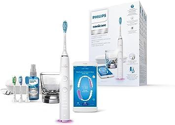 Philips Sonicare DiamondClean Smart HX9924/03 - Cepillo de dientes con App de formación personalizada, sensor de presión, 5 modos, 3 intensidades, incluye 4 cabezales y spray lingual, color blanco: Amazon.es: Salud y cuidado personal