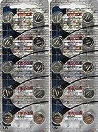Maxell LR44, Alkaline Button Cell Battery, No Mercury 1.5 Volt, (20 Batteries)