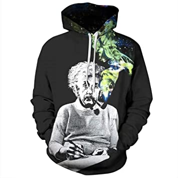 ISAAC ENGLAND Einstein Sudaderas Hombres/Mujeres Sudaderas 3D Imprimir Einstein Fumar Divertido Unisex Chándales con Capucha Tops Pullovers: Amazon.es: ...