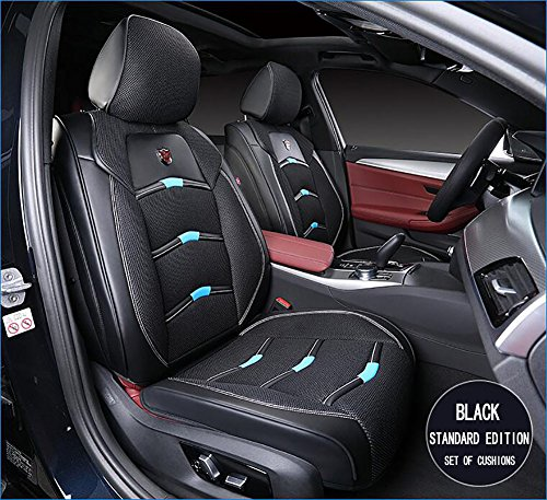 Car Seat Covers Full Set, PU Leather Car Seat Covers For 5 Seats Vehicle Suitable For Year Round Use, Anti-Slip Suede Backing Universal Fit Car Seat Covers For Both Fabric And Leather Car Seats,Black: Amazon.co.uk: Sports & Outdoors
