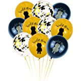 Wild One Gold Black Pinted Confetti Balloons For Baby First Birthday Party Supplies Backdrop Photo Booth Props Party…
