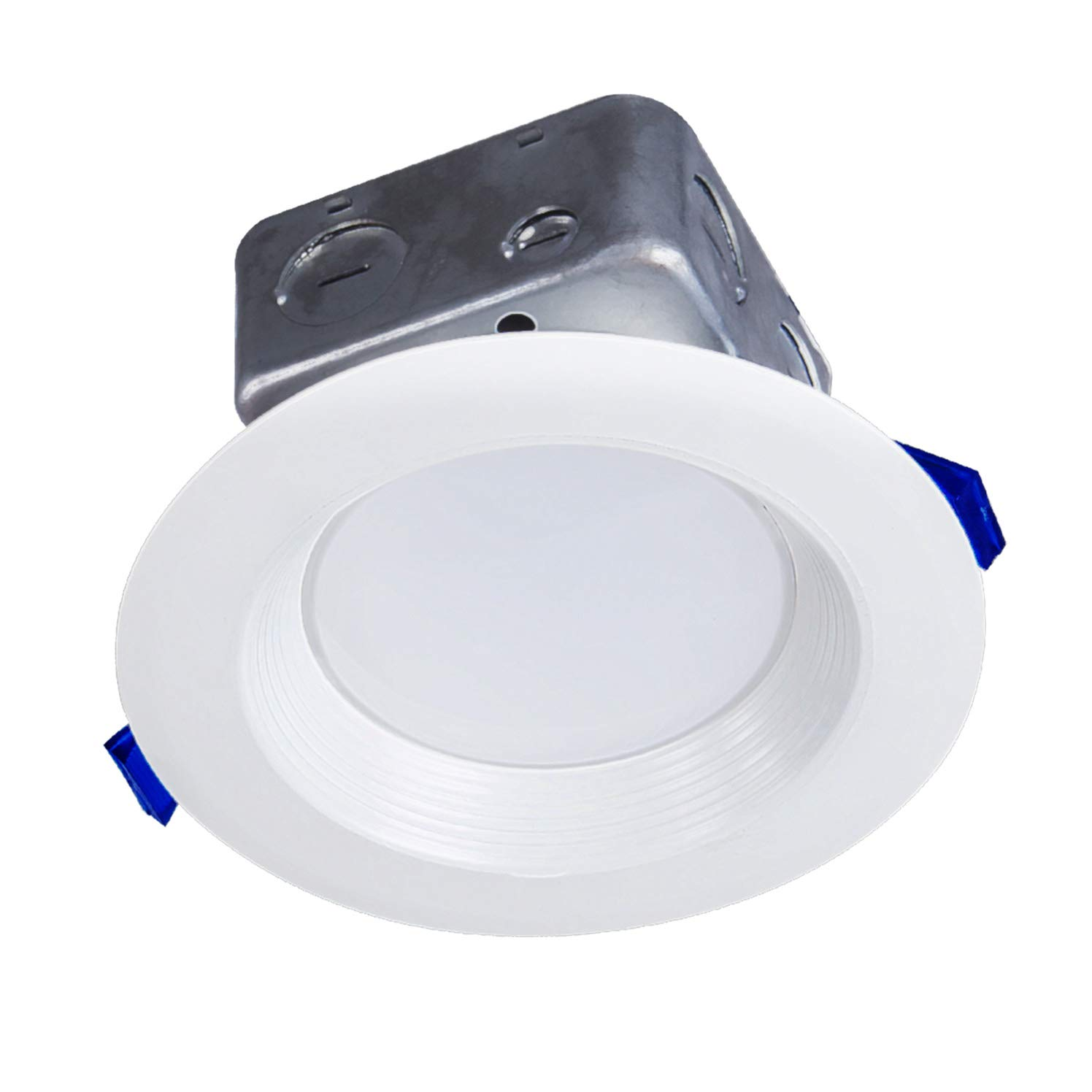 OSTWIN 4 Inch LED Recessed Ceiling Light Fixture, Dimmable, Downlighter Junction Box, IC Rated, 10W (50 Watt Replacement) 3000K (Warm Light), 725Lm, No Can Needed, ETL Listed
