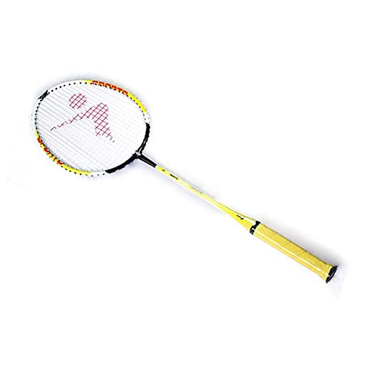 Amazon.com : Durable Speed Badminton Racket Battledore Racquet with Carry Bag for Couples Yellow Color 1 Pair : Sports & Outdoors