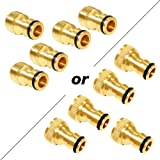 "Joywayus 5Pcs 3/4"" Male or Female Random Brass Garden Water Hose Pipe Faucet Nozzle Quick Connect Adapter"