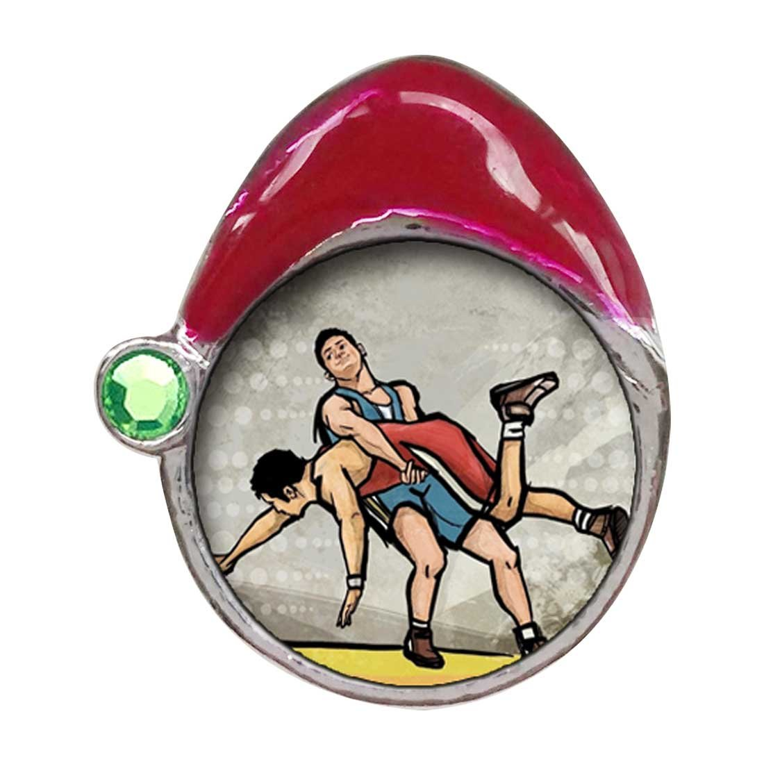 Olympics Wrestling Peridot Crystal August Birthstone Red Santa Hat Charm Bracelets